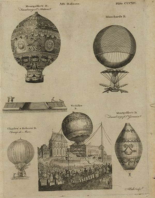 globos aerostaticos siglo XVIII