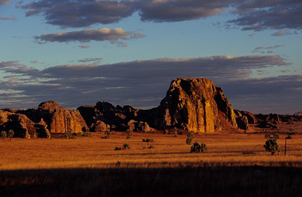 isalo national park at sunset