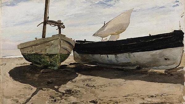 sorolla barcas en la playa