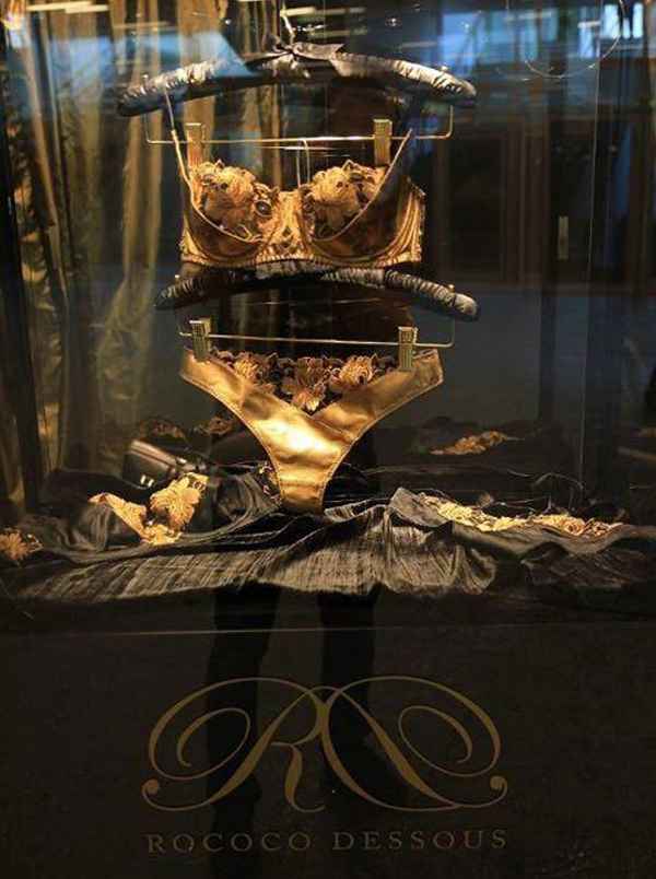 24-karat gold lingerie collection inspired by Cleopatra and Marie Antoinette