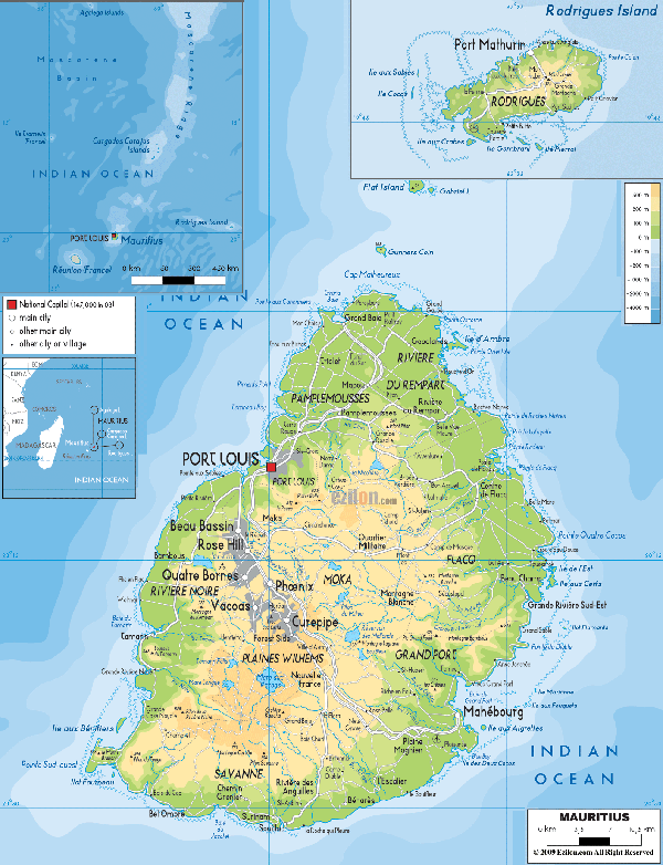Mauritius-physical-map
