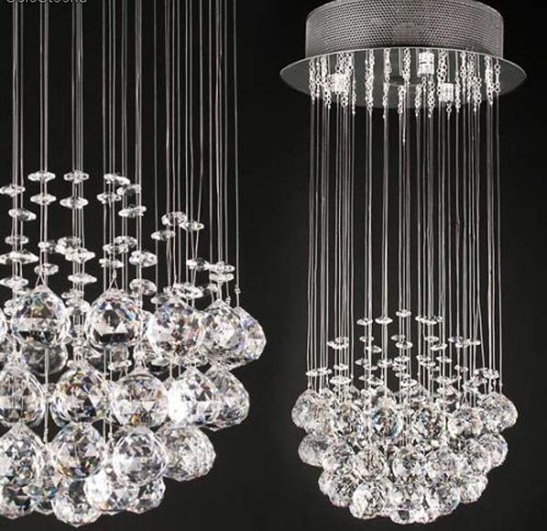 Lamparas lampara de arana colgante 50cm largo cristal - Colgantes de cristal para lamparas ...