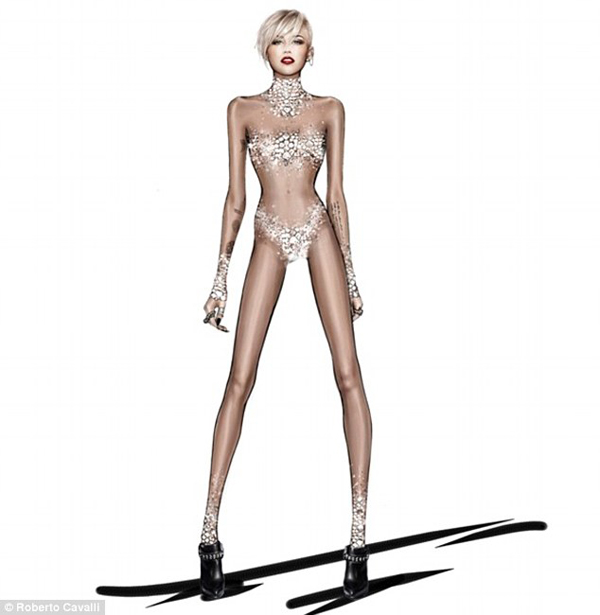 cavalli design for miley cyrus