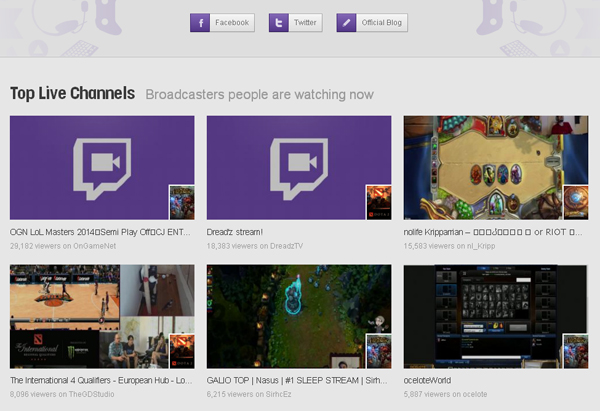 twitch channnels