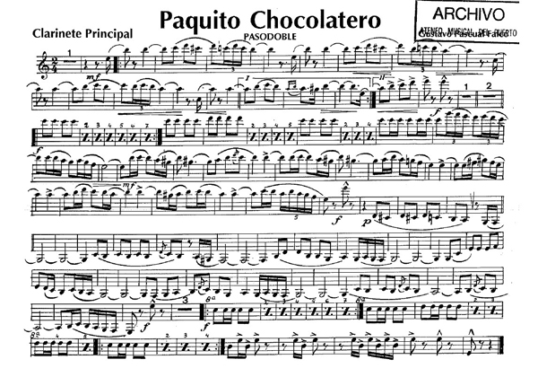 paquito el chocolatero pasodoble