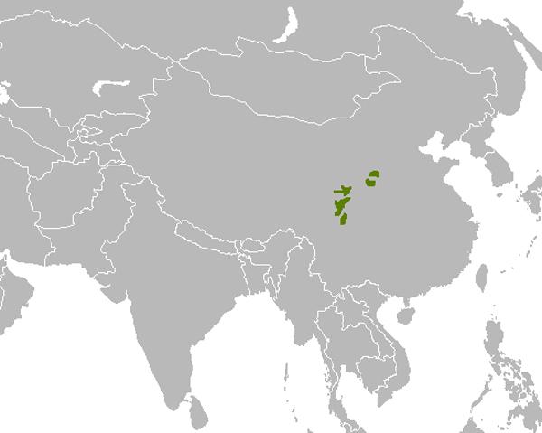 Mapa_distrbucion habitat natural oso panda
