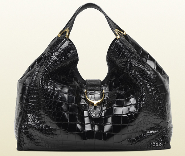 Gucci-Soft-Stirrup-Crocodile-Shoulder-Bag