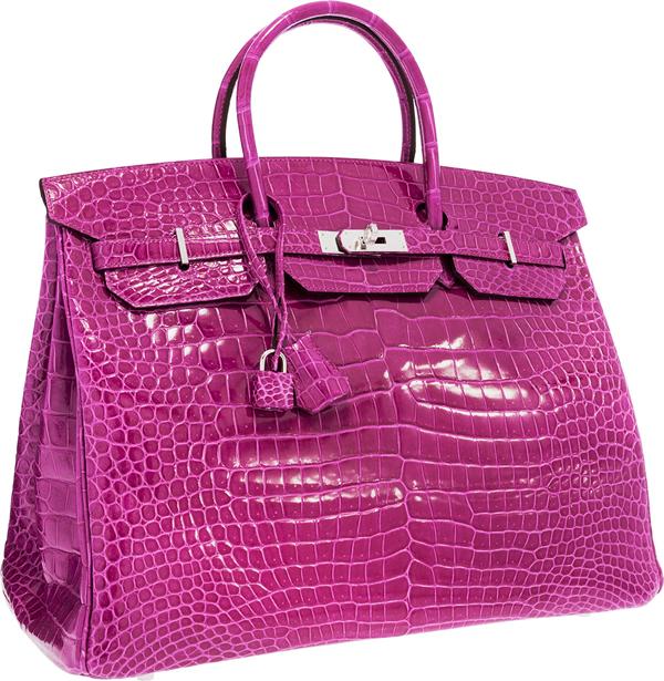 Hermes-40cm-Shiny-Rose-Scheherazade-Porosus-Crocodile-Birkin-Bag
