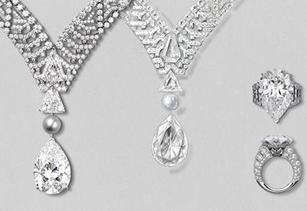 Pur Absolu Diamond Necklace and Ring Cartier