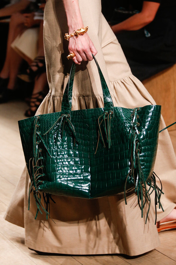 Valentino-Green-Crocodile-Tote-Bag-2014