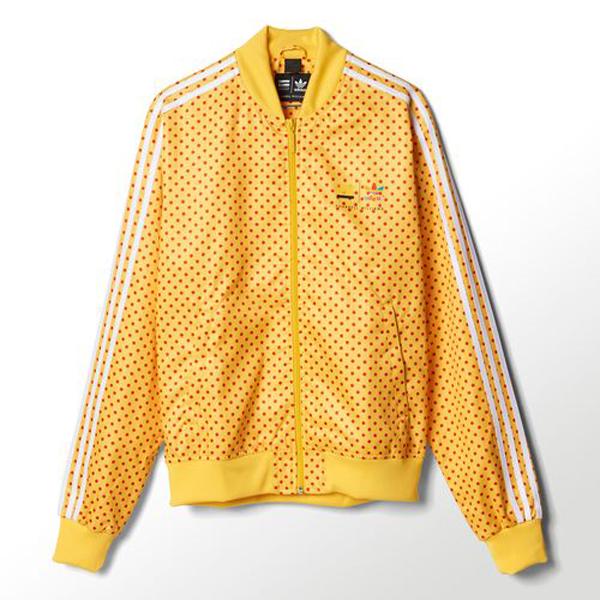 chaqueta amarilla adidas
