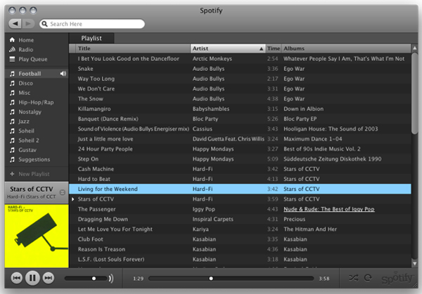 Spotify-Interface