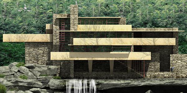 casa de la cascada arquitectura organica