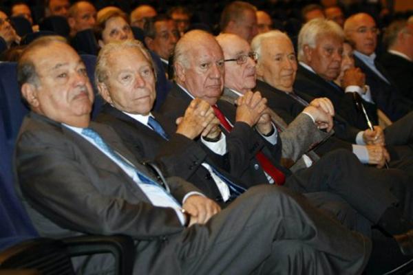 expresidentes y carlos slim
