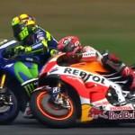 Tras la patada de Rossi, Moto GP se decidirá en Cheste