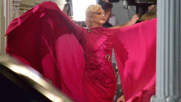 """51828258 Singer Lady Gaga films a scene for """"American Horror Story: Hotel"""" at LACMA on August 19, 2015 in Los Angeles, California. FameFlynet, Inc - Beverly Hills, CA, USA - +1 (818) 307-4813"""