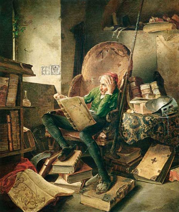 don-quijote-leyendo-libros-de-caballerias - estilos de