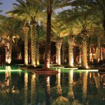 One and Only Royal Mirage, Main Pool at night