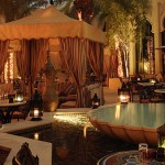 One and Only Royal Mirage, outdoor dining, night