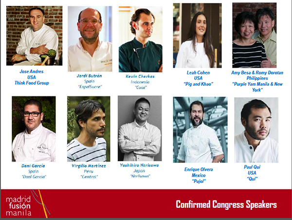 chefs presentes madrid fusion manila