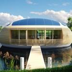 ecovilla solar flotante diseñada por Giancarlo Zema