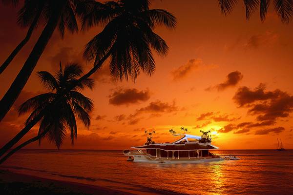 Sunset Along Tobago Tobago, Trinidad and Tobago