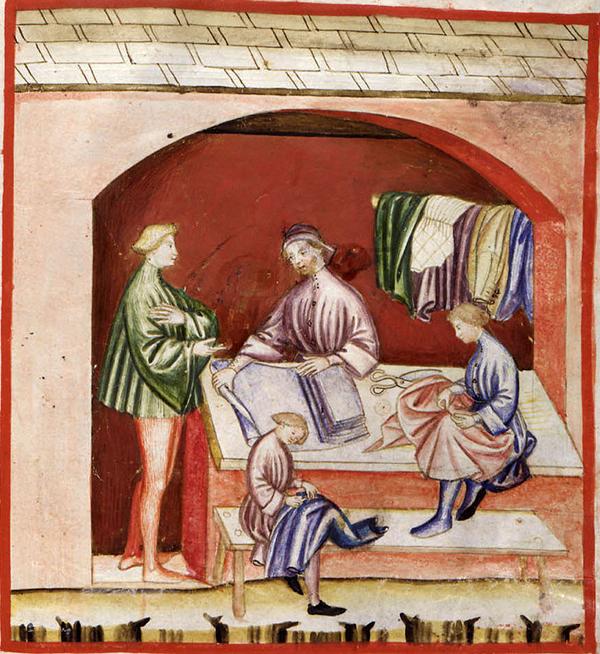 artesanos seda edad media