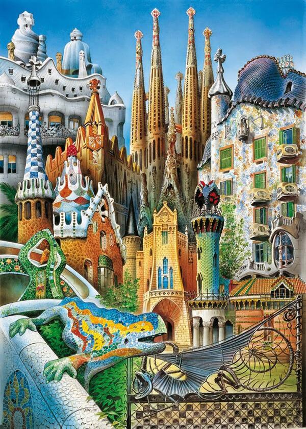 Cartel obras gaudi estilos de vida estilos de vida - Pintores de barcelona ...