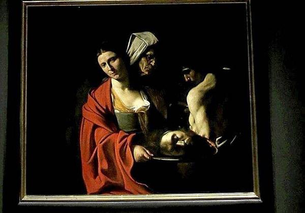 cabeza del bautista caravaggio