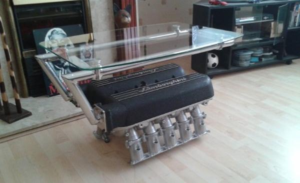 Lamborghini-V10-Engine-Coffee-Table