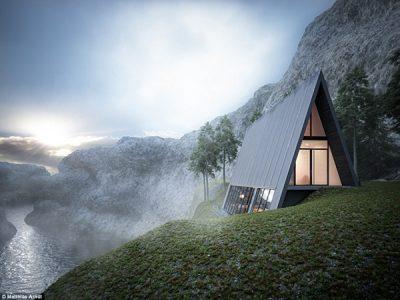 Triangle Cliff House la belleza de la arquitectura geométrica