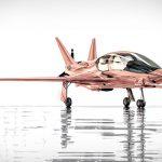 Valkyrie-x de oro rosa el avión privado de Cobalt y Neiman Marcus