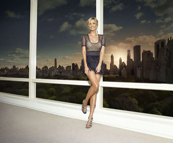 Ivanka Trump shows some leg as she models her new shoe line.