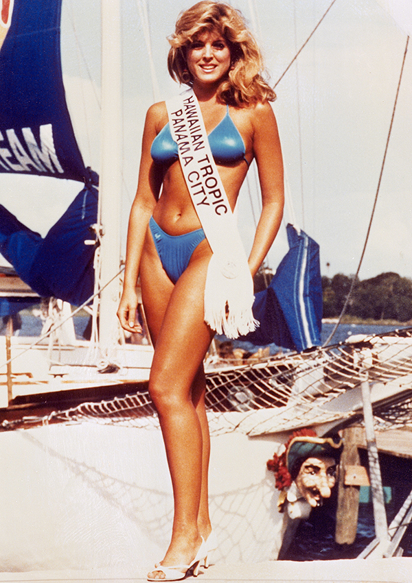 "Marla Maples is shown in this July 1985 photo sporting the first place banner after winning the ""Miss Hawaiian Tropic International"" beauty pageant in Panama City, Florida. Miss Maples, who dropped from sight when the news of the Trumps separation made news, says of Donald Trump ""please, I am only a friend."" (AP Photo)"