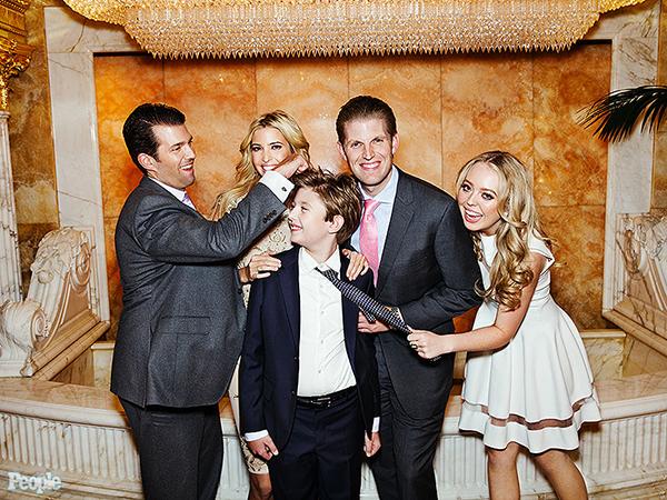 Retrato de la Familia Trump: los hijos
