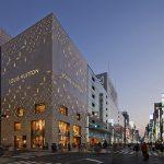 Fachada de alta tecnología para Louis Vuitton Matsuya Boutique