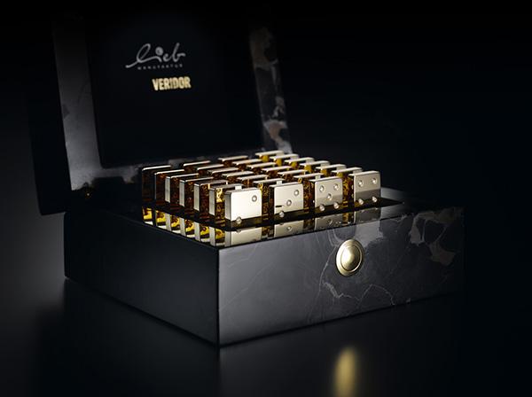 Dominó de oro y diamantes de Lieb Manufaktur y Veridor