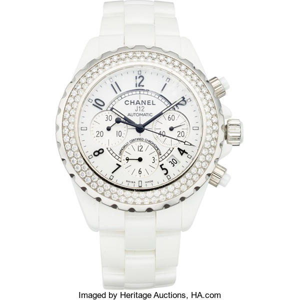 Heritage-aunction-chanel-j12-chronograph-41mm-diamods