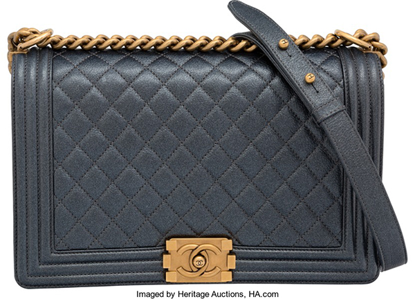 Heritage-aunction-chanel-pewted-distressed-leather-boy-bag