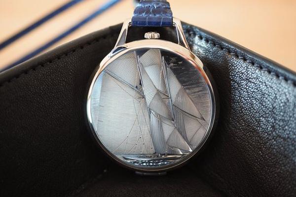 Reloj de bolsillo Slim d'Hermès Pocket Vieux Gréement