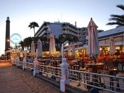 Restaurante Samsara en la playa de Maspalomas