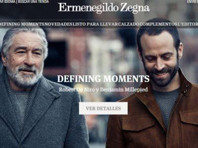 Robert de Niro repite campaña con Ermenegildo Zegna