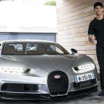 Ronaldo presume ante el mundo de su nuevo Bugatti Chiron