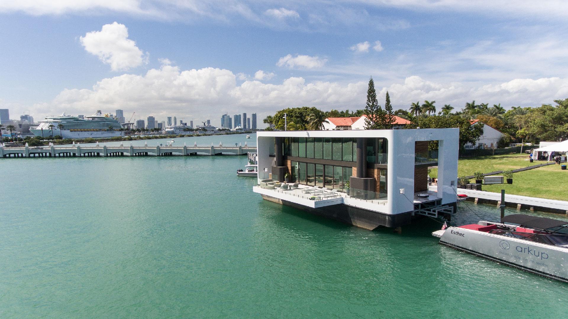 Una casa flotante de lujo en Miami
