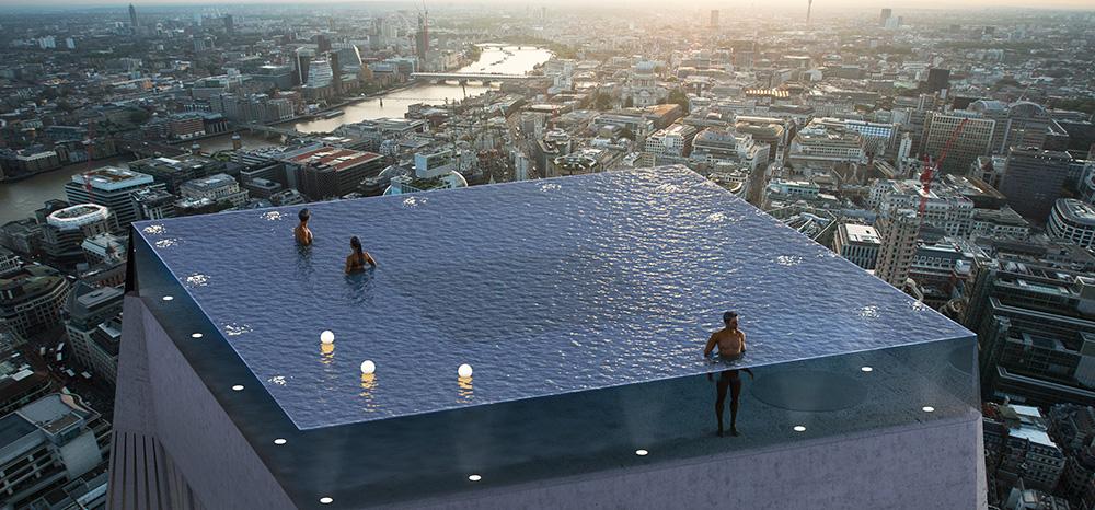 """¿La primera piscina de 360 grados sobre un rascacielos o una locura"""""""